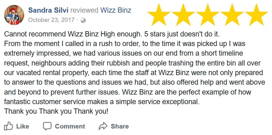 Wizz Binz Customer Review 1
